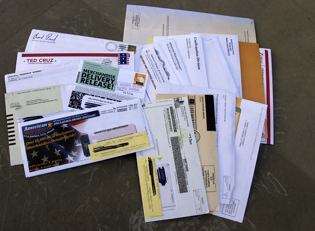 Toady's Mail, Saturday March 29, 2014, All 19 pices of it.