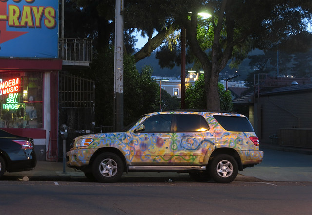 painted SUV in the Haight; San Francisco 2014