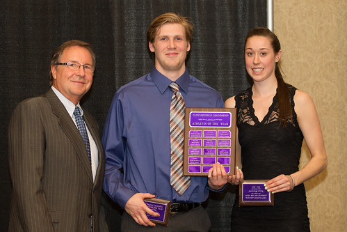 Cliff Neufeld Award winners 2013-14 Colin Carson and Taiysa Worsfold (Apr 3, 2014 Snucins)