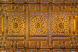 Ceiling of the Old Chapel, Queen Anne's Court, the Old Royal Naval College, Greenwich London