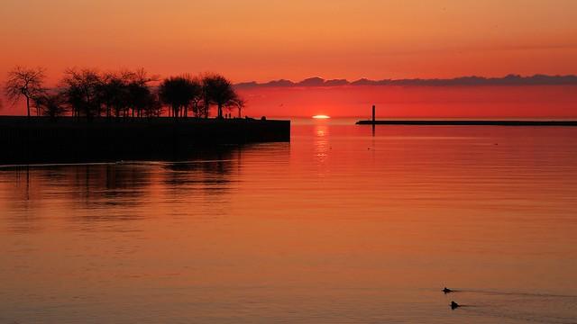 Sunrises on Lake Michigan