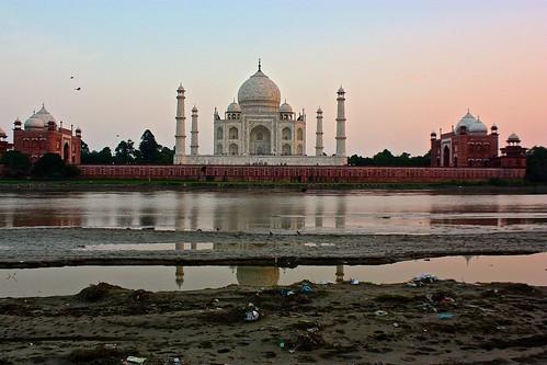 Trash. River. Taj.