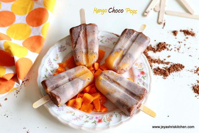 Mango-choco -pops