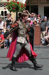 Prince Phillip from Sleeping Beauty in Disney Festival of Fantasy Parade at the Magic Kingdom - Walt Disney World (Closeup)