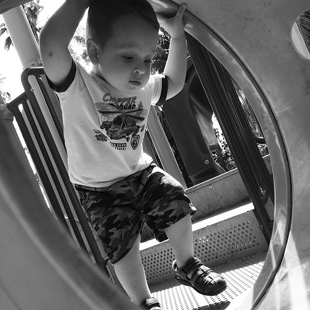 Going through the tunnel! #park #playground #toddler
