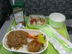 meal for Taiwan flight