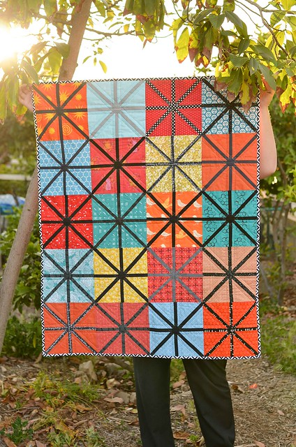 Collaborative quilt made by the do. Good Stitches Wish Circle March 2014