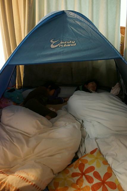 家庭内テント生活