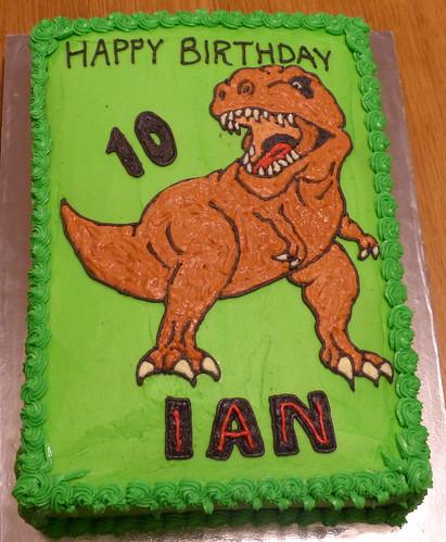Tyrannosaurus Rex Cake Life with Sprogs