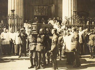 Coffin of Michael Collins being carried from the Pro-Cathedral