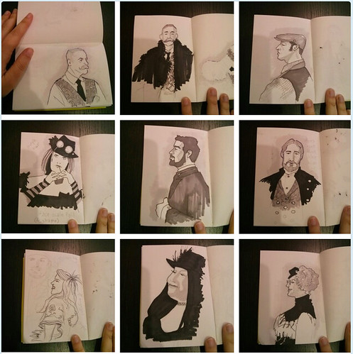 Edwardian Ball Sketches : Saturday 2015