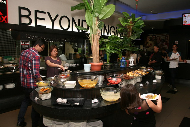 It's quite a spread at K Box buffet dinner