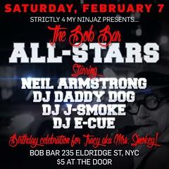 2/7 - Tonite - B0B Bar NYC All-Star Reunion