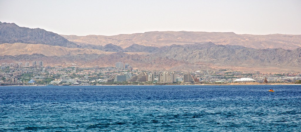 Street map Eilat Israel Aqaba Jordan PDF