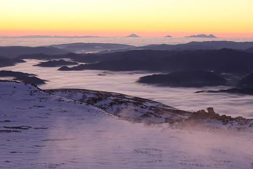 白雲岳の夜明け