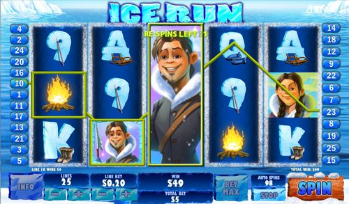 free Ice Run bonus feature prize