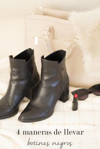 4 maneras de llevar botines negros en tus looks