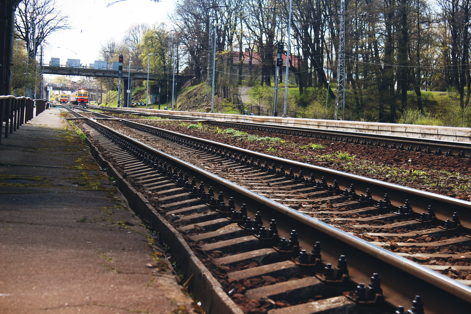 Latvian train station