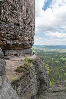 Felsband am Frienstein zur Idagrotte