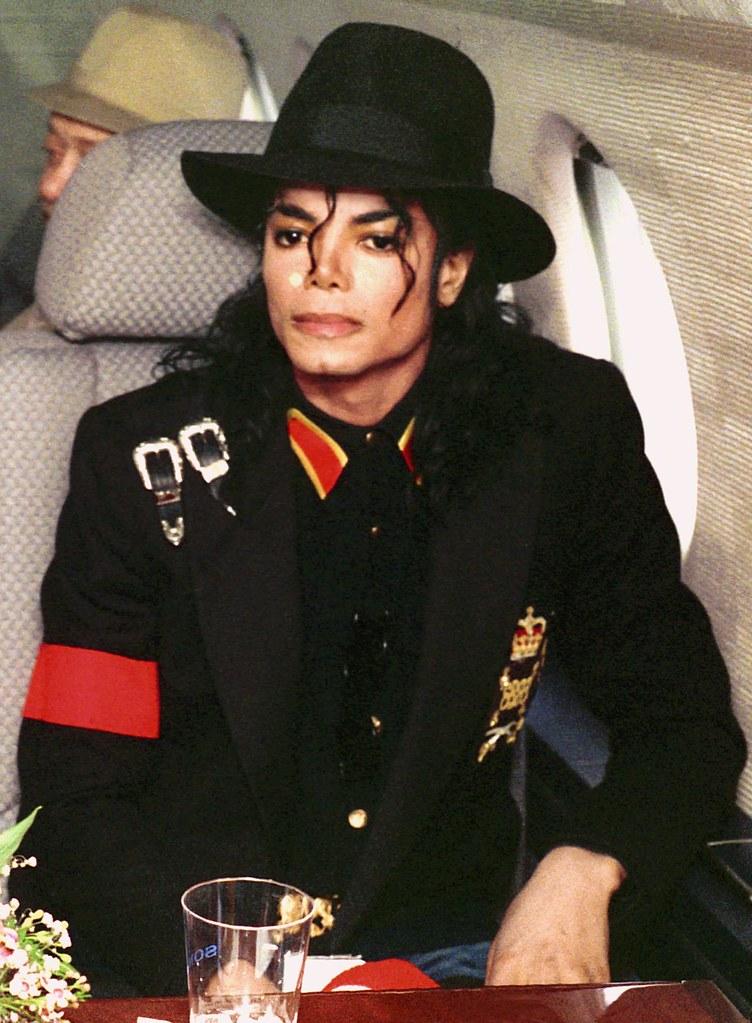 Майкл Джексон в самолёте
