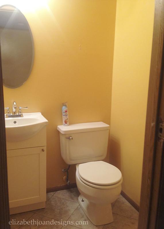 Yellow Tiny Bathroom