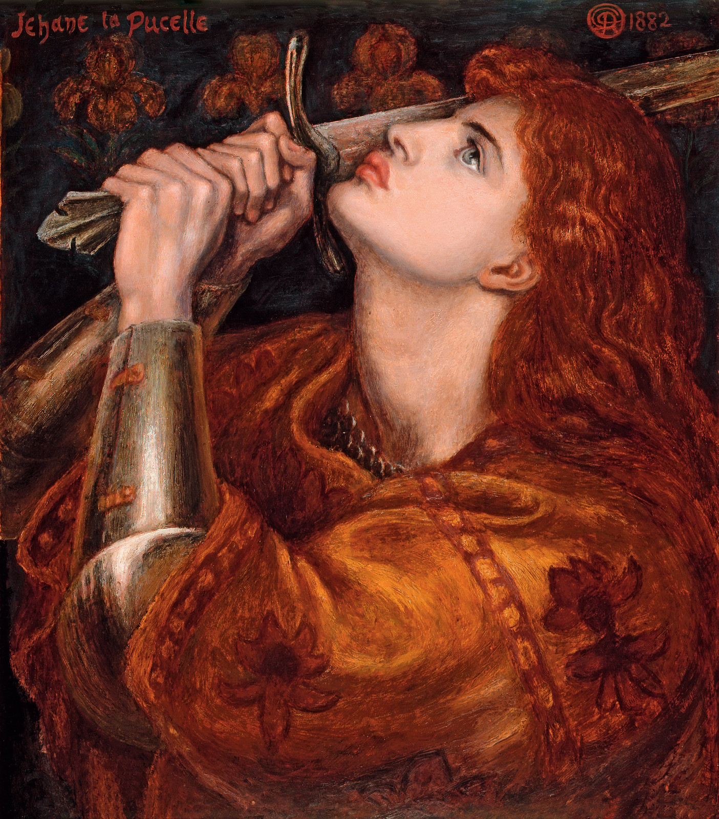 Joan of Arc by Dante Gabriel Rossetti, 1882
