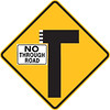 T-Junction with No Through Road to the Left