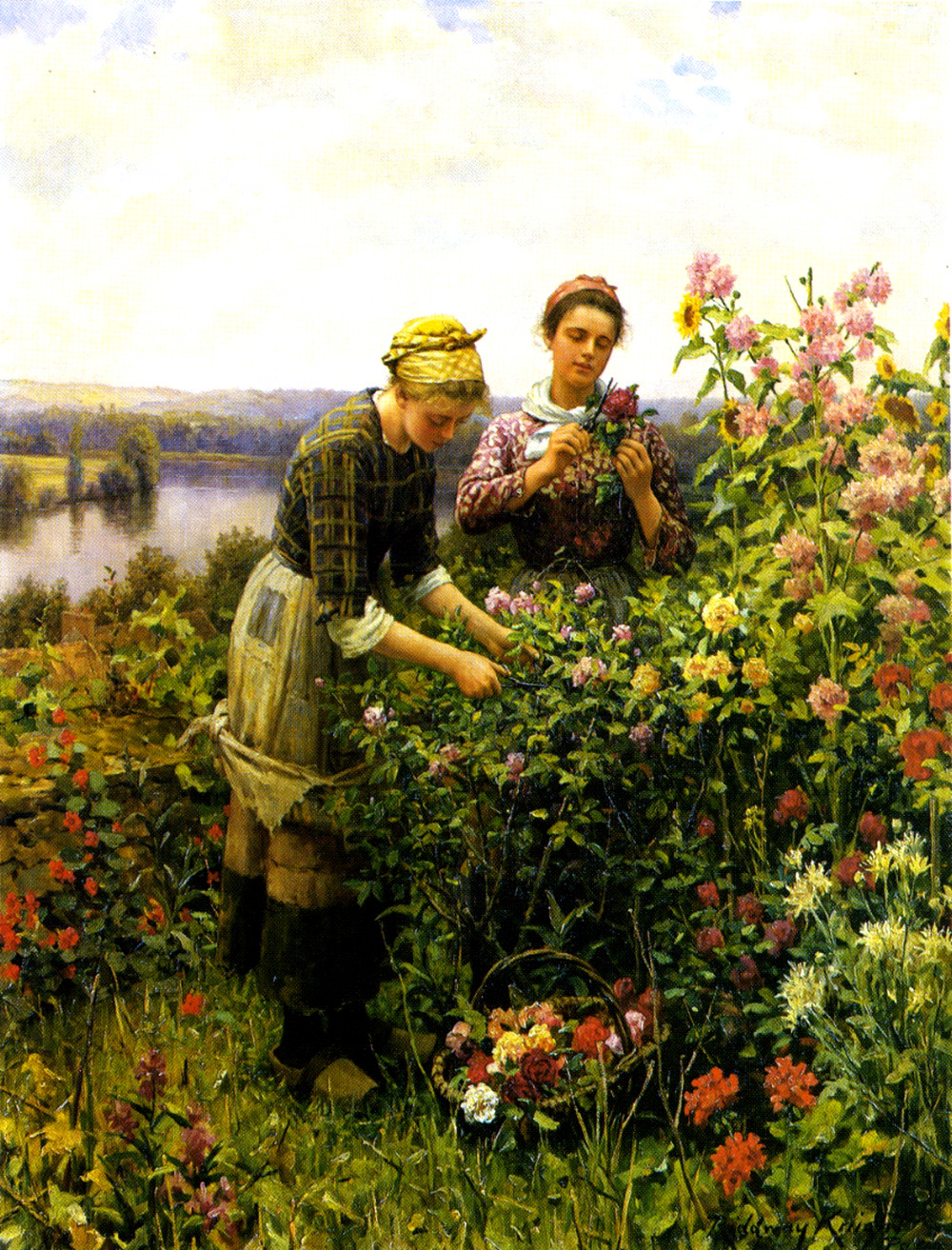 Flower Girls by Daniel Ridgway Knight