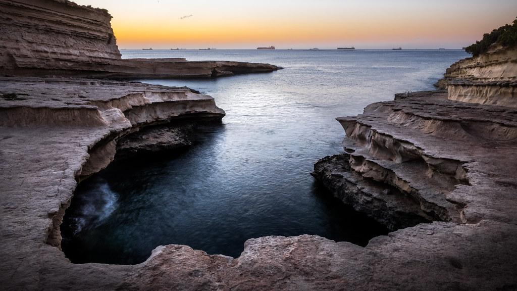 St Peter's pool, Marsaxlokk, Malta picture