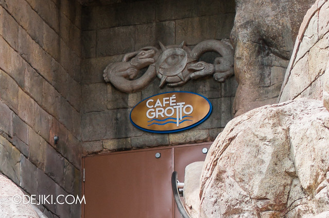 Marine Life Park Singapore - Adventure Cove Waterpark - The Grotto's Old Sign