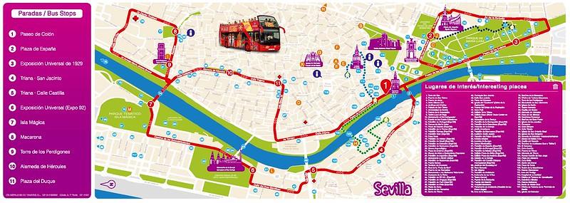 Mapa Tour Bus Sevilha