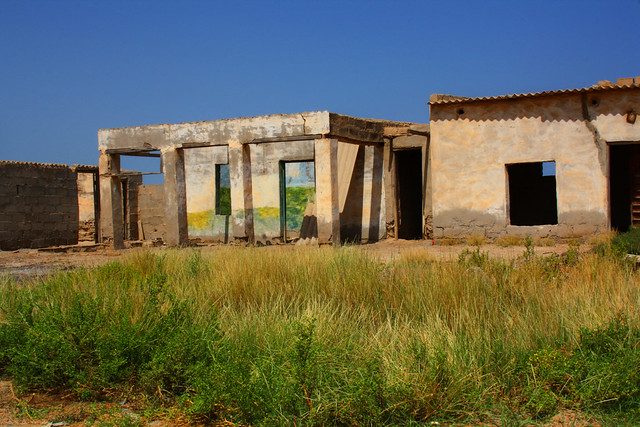 Grassy ruins