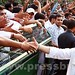 Congress workers greet Sonia Gandhi, Rahul Gandhi 08