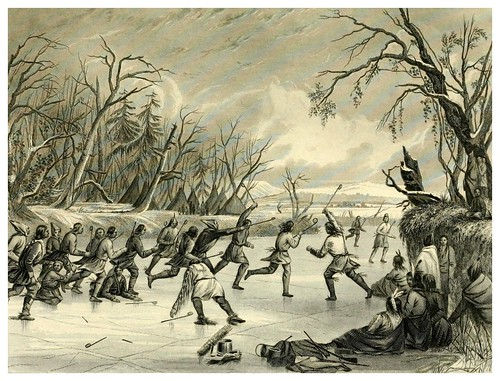 011-Juego de pelota en el hielo-The Indian tribes of the United States..1884-H. R. Schoolcraft