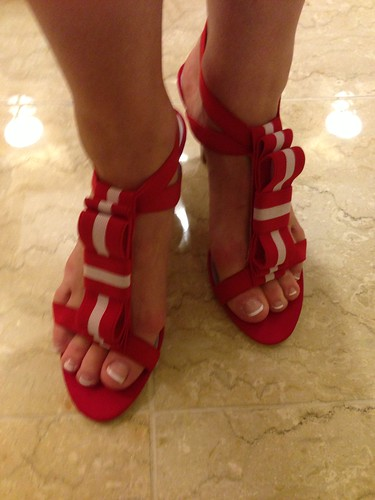 Johnston & Murphy Evie Red Sandals