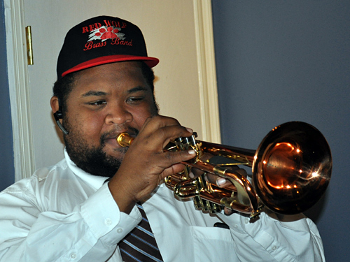 Red Wolf Brass Band in the WWOZ Studios, May 23, 2013