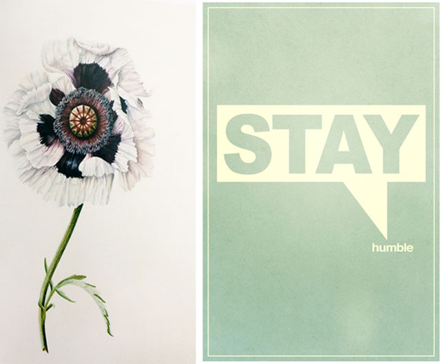stay humble-flower print