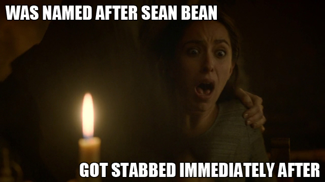 Red Wedding Curse of Sean Bean