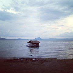 View of Taal from the resort.