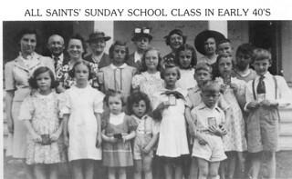 Sunday School Class 1940's