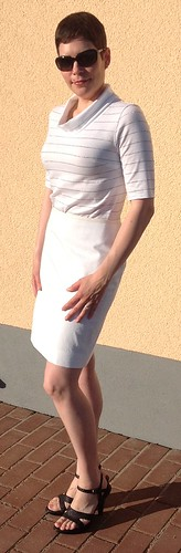 White skirt and top - view 2