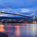 Lions Gate Bridge Just After Sunset by `James Wheeler