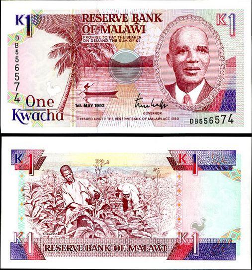 1 Kwacha Malawi 1992, Pick 23b