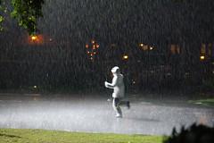 stand in running through the rain