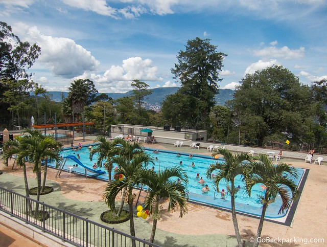 One of the many pools at the Parque Recreativo Comfama La Estrella