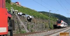 Gleissturz Bahnstrecke Lorch 10.08.13