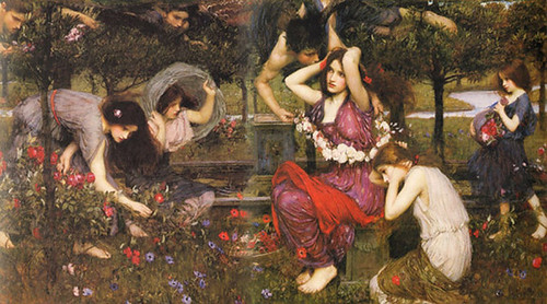 Waterhouse Flora and the Zephyrs