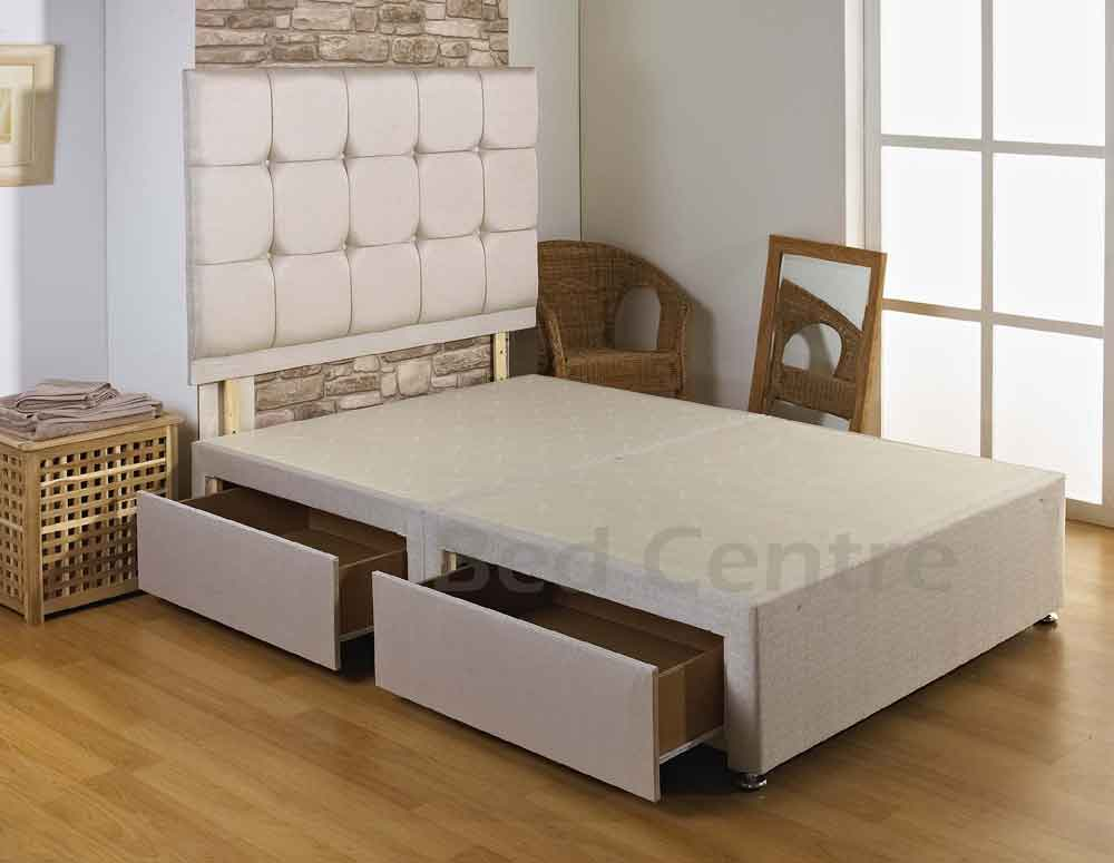 6FT SUPER KING SIZE DIVAN BED BASE + DRAWERS + HEADBOARD