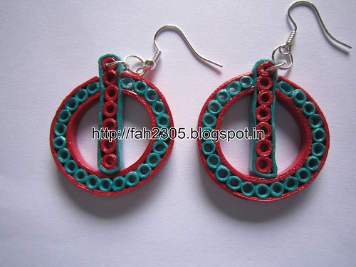 Handmade Jewelry - Paper Quilling Power Button Earrings (1) by fah2305