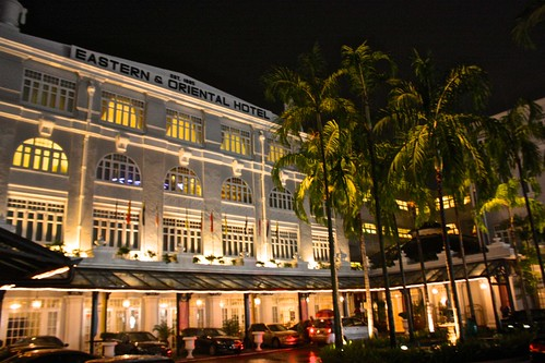 Eastern & Oriental Hotel's Heritage Wing at night
